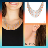 Paparazzi Accessories Harlem Hideaway - Orange Necklace - Mel's Pretty It Up Boutique