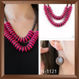 Paparazzi Accessories DOMINICAN Disco - Pink Necklace - Mel's Pretty It Up Boutique