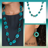 Paparazzi Accessories Waikiki Winds - Blue Necklace - Mel's Pretty It Up Boutique