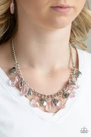 Paparazzi Accessories No Tears Left To Cry - Pink Necklace - Mel's Pretty It Up Boutique