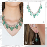 Paparazzi Accessories Malibu Ice - Green Necklace - Mel's Pretty It Up Boutique