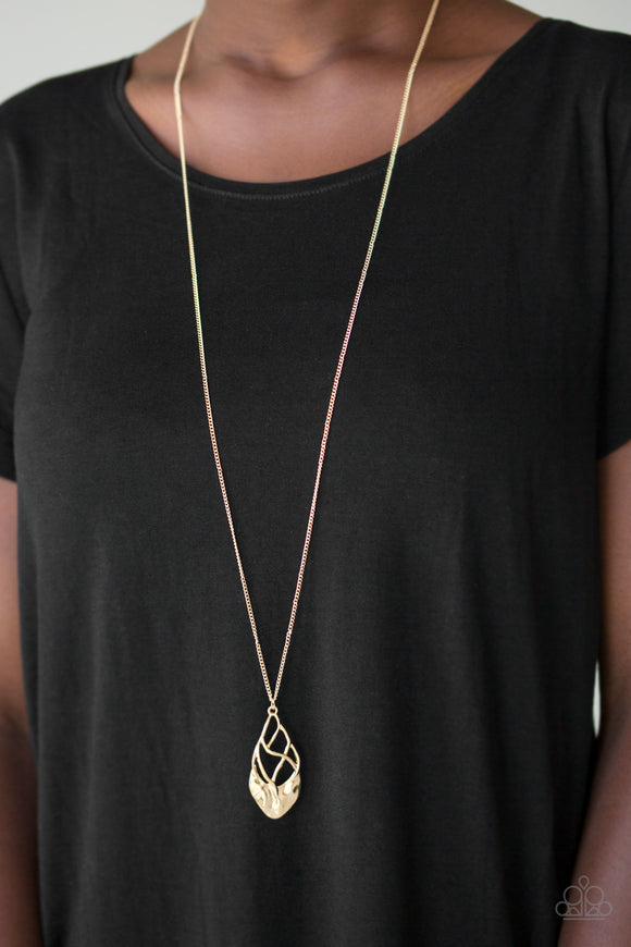 Paparazzi Accessories Swank Bank - Gold Necklace