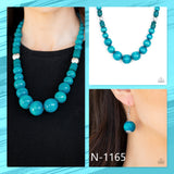 Paparazzi Accessories Panama Panorama - Blue Necklace - Mel's Pretty It Up Boutique