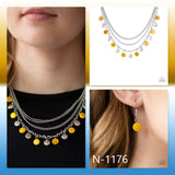 Paparazzi Accessories Beach Flavor - Yellow Necklace - Mel's Pretty It Up Boutique