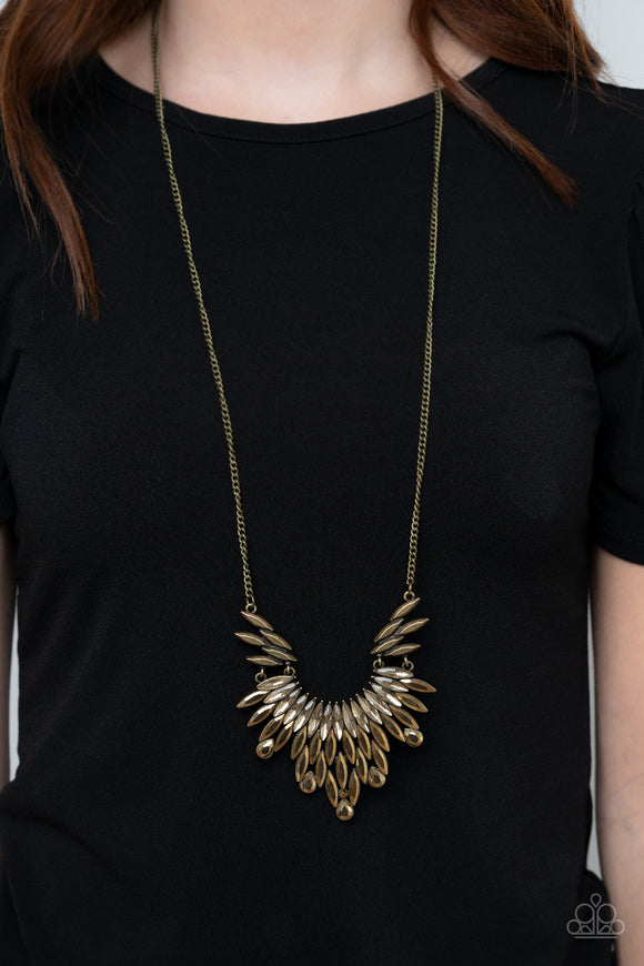 Paparazzi Accessories Leave it to LUXE - Brass Necklace