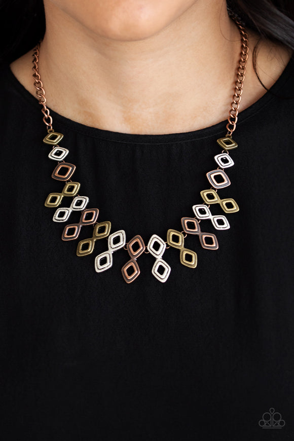 Paparazzi Accessories Geocentric - Multi Necklace