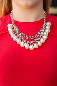 Paparazzi Accessories One-Way WALL STREET - White Necklace - Mel's Pretty It Up Boutique