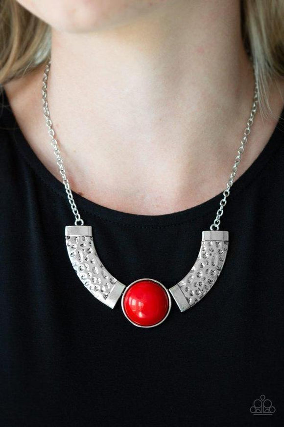 Paparazzi Accessories The Pack Leader - Red Necklace