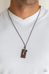 Paparazzi Accessories Mountain Scout - Brown Urban Necklace - Mel's Pretty It Up Boutique