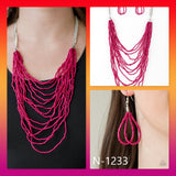 Paparazzi Accessories Bora Bombora - Pink Necklace - Mel's Pretty It Up Boutique