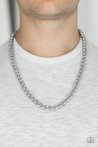 Paparazzi Accessories Big Talker - Silver Men's Necklace - Mel's Pretty It Up Boutique