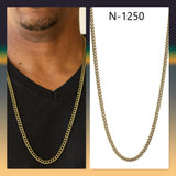Paparazzi Accessories First Rule Of Fight Club - Brass Men's Necklace - Mel's Pretty It Up Boutique