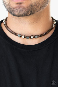 Paparazzi Accessories Take a Trek - Brown Urban Necklace