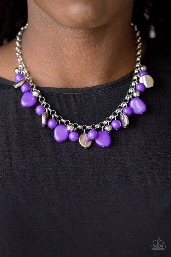 Paparazzi Accessories Flirtatiously Florida - Purple Necklace - Mel's Pretty It Up Boutique
