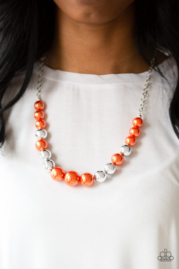 Paparazzi Accessories Take Note - Orange Necklace