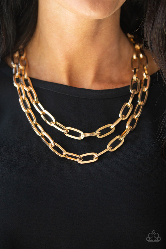 Paparazzi Accessories Make A CHAINge - Gold Necklace - Mel's Pretty It Up Boutique