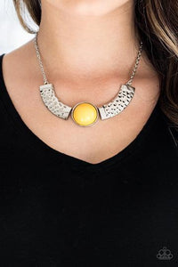 Paparazzi Accessories Egyptian Spell - Yellow Necklace - Mel's Pretty It Up Boutique