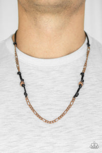 Paparazzi Accessories Rural Renegade - Copper Urban Necklace - Mel's Pretty It Up Boutique