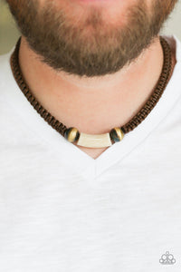 Paparazzi Accessories Gone Adventuring - Brown Urban Necklace - Mel's Pretty It Up Boutique