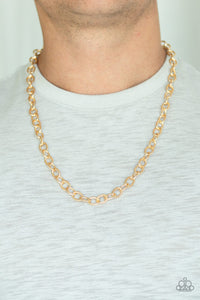 Paparazzi Accessories Courtside Seats - Gold Men's Necklace - Mel's Pretty It Up Boutique