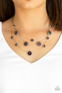 Paparazzi Accessories SHEER Thing! - Purple Necklace - Mel's Pretty It Up Boutique