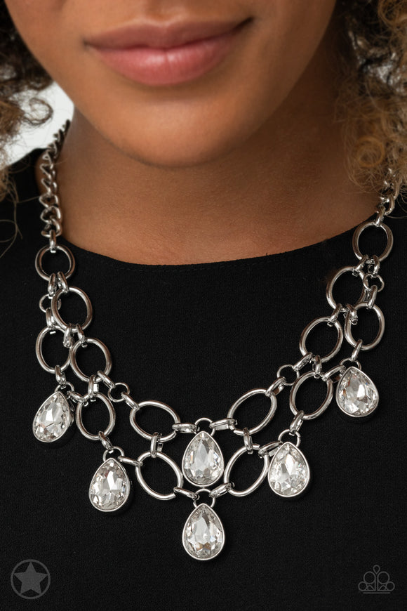 Paparazzi Accessories Show-Stopping Shimmer - White Necklace