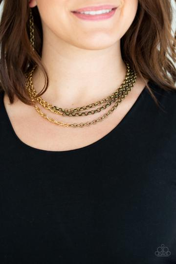 Paparazzi Accessories Metro Madness - Brass Necklace - Mel's Pretty It Up Boutique