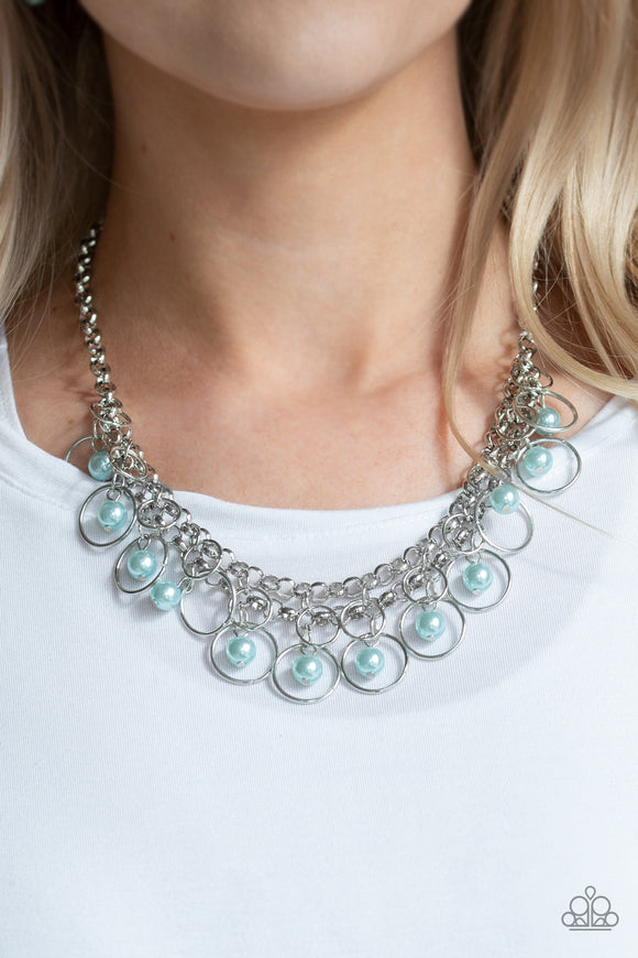 Paparazzi Accessories Party Time - Blue Necklace