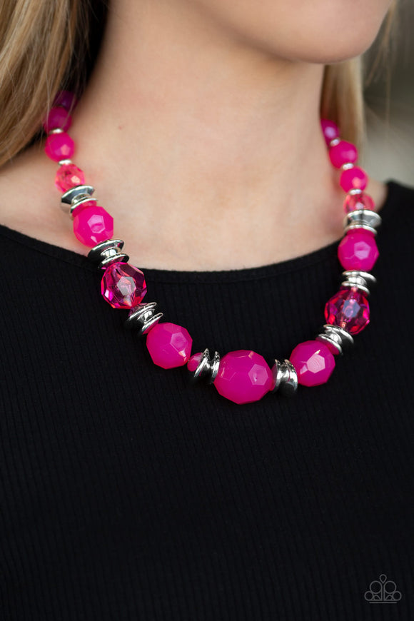 Paparazzi Accessories Dine and Dash - Pink Necklace