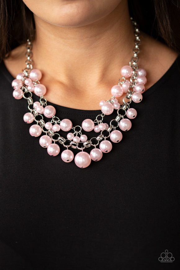 Paparazzi Accessories BALLROOM Service - Pink Necklace