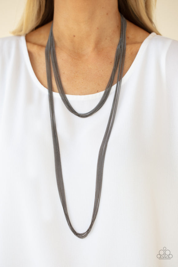 Paparazzi Accessories Save Your TIERS - Black Necklace