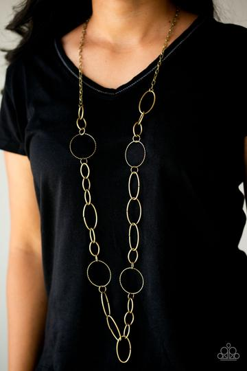 Paparazzi Accessories Perfect MISMATCH - Brass Necklace