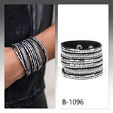 Paparazzi Accessories A Wait-And-SEQUIN Attitude - Black Bracelet - Mel's Pretty It Up Boutique
