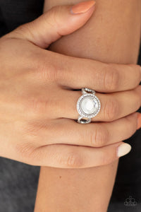 Paparazzi Accessories Its Gonna GLOW! - White Ring - Mel's Pretty It Up Boutique