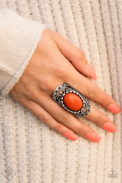 Paparazzi Accessories Drama Dream - Orange Ring - Mel's Pretty It Up Boutique