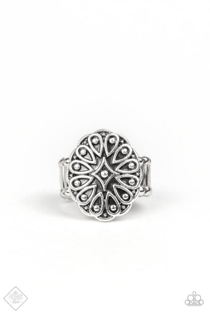 Paparazzi Accessories Modern Mandala - Silver Ring - Mel's Pretty It Up Boutique