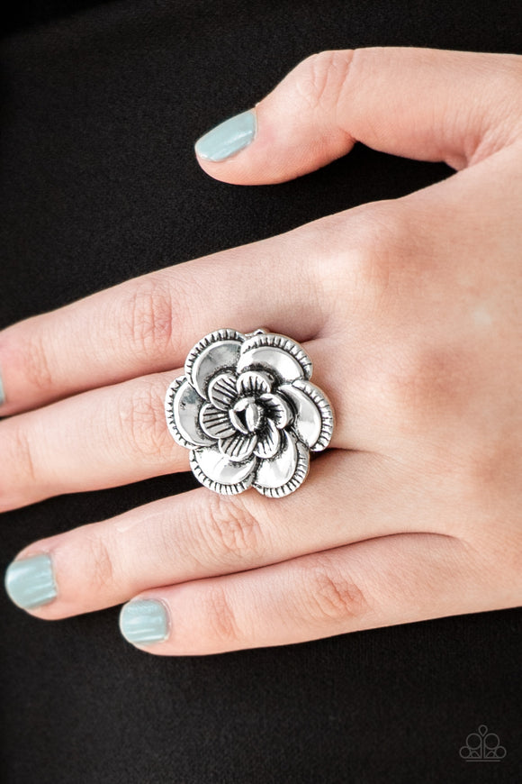Paparazzi Accessories FLOWERBED and Breakfast - Silver Ring