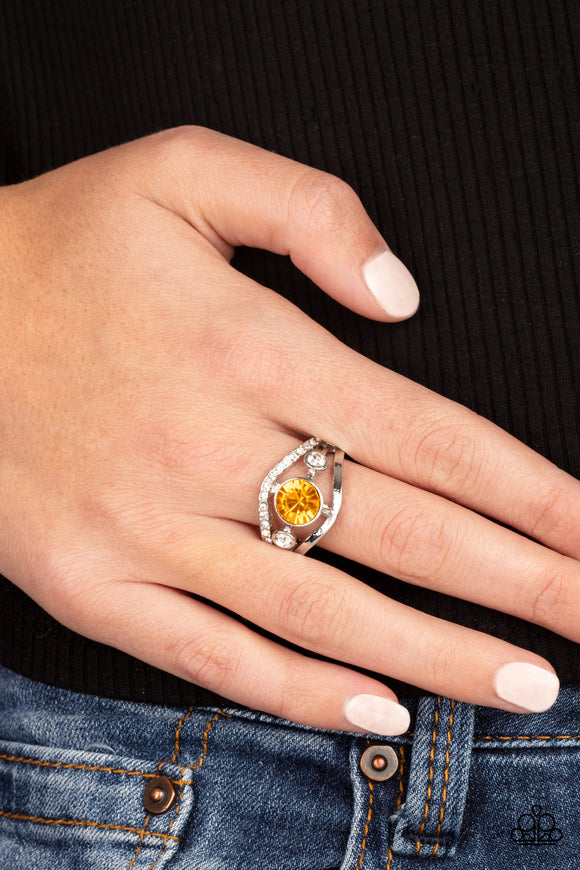 Paparazzi Accessories Rich With Richness - Yellow Ring