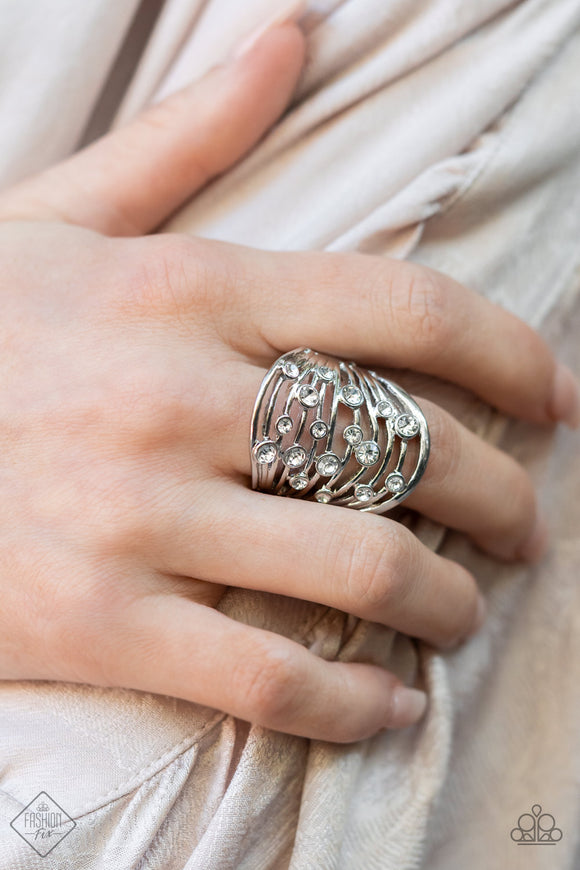 Paparazzi Accessories Opal Oasis - White Ring - Mel's Pretty It Up Boutique