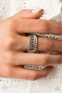 Paparazzi Accessories Here We Vertigo - Silver Ring - Mel's Pretty It Up Boutique