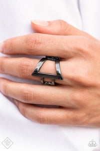 Paparazzi Accessories Castle Lockdown - Silver Ring - Mel's Pretty It Up Boutique
