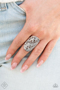 Paparazzi Accessories Lined Up - Silver Ring - Mel's Pretty It Up Boutique