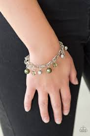 Paparazzi Accessories Fancy Fascination - Green Bracelet - Mel's Pretty It Up Boutique