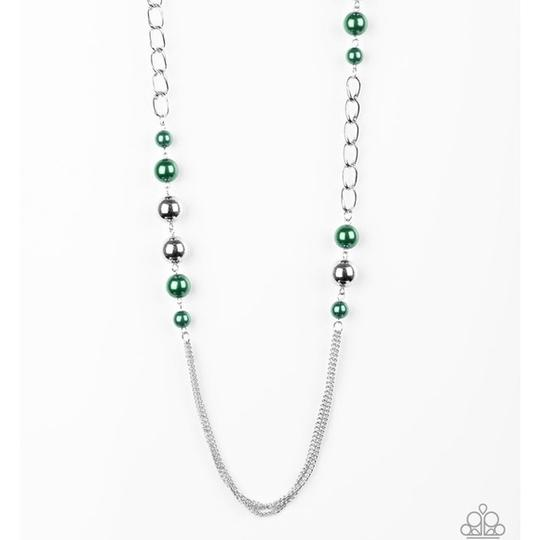 Paparazzi Accessories Uptown Talker - Green Necklace - Mel's Pretty It Up Boutique