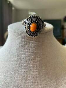 Paparazzi Accessories Oasis Moon - Orange Ring Fashion Fix October 2019 Exclusive - Mel's Pretty It Up Boutique