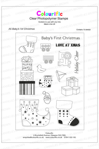 A5 Baby's First Christmas Stamp Set