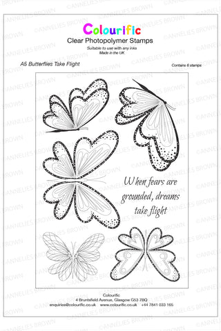 A5 Butterflies Take Flight Stamp Set