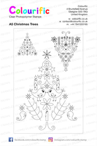 A5 Christmas Trees Stamp Set