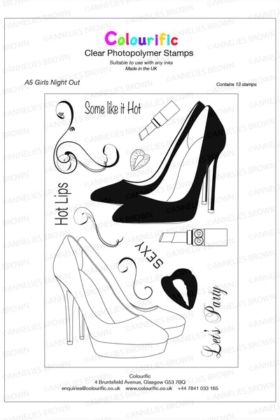 A5 Girls Night Out Stamp Set