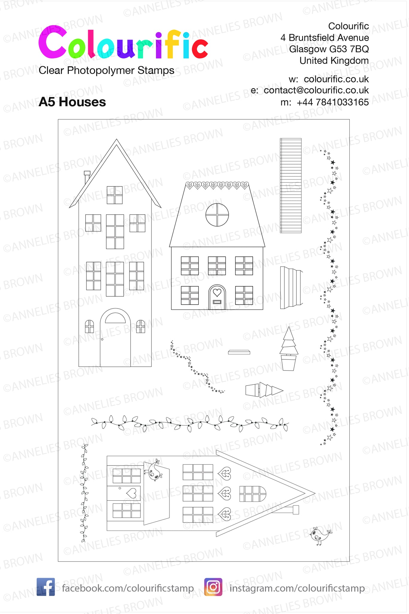 A5 Houses Stamp Set